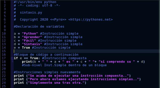 Identar en Python