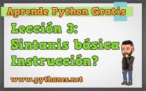 Sintaxis basica de Python