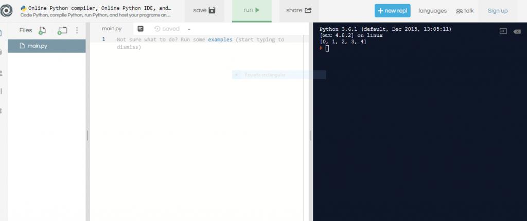 Intérprete de Python online