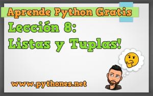 Listas y Tuplas en Python