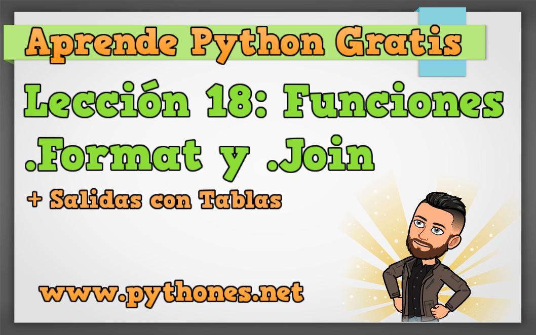Lección 18 format en python