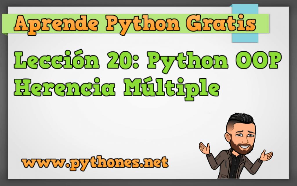 Herencia multiple en Python Lección 20