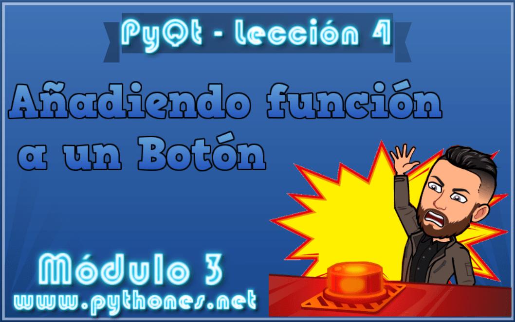 Añadir función a un botón en pyqt5