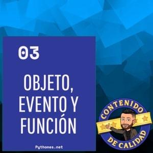 Objeto, evento y función