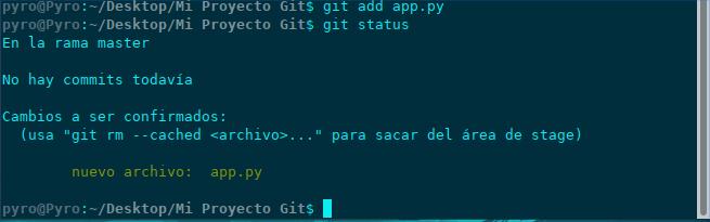 git add + git status