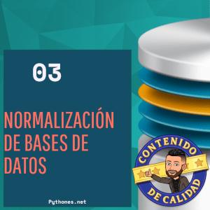 normalización bases de datos